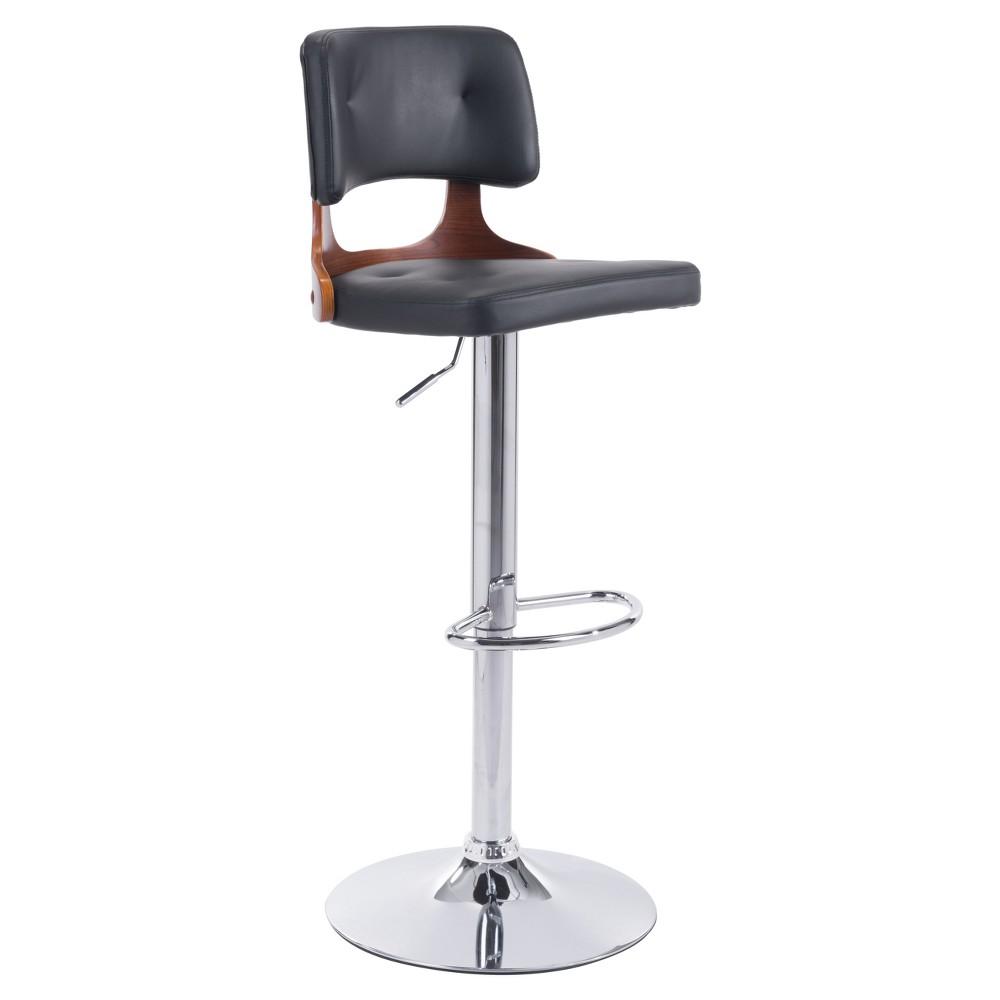 Mid Century Modern Adjustable 25 Bar Chair - Black - ZM Home