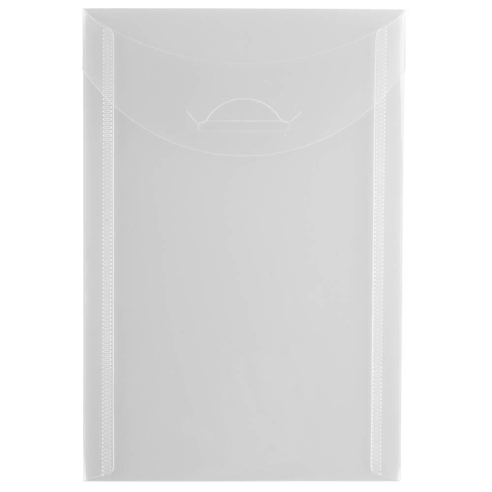 Jam Paper 4 1/8'' x 6'' 12pk Plastic Envelopes with Tuck Flap Closure, Open End - Clear Jam Paper 4 1/8'' x 6'' 12pk Plastic Envelopes with Tuck Flap Closure, Open End - Clear