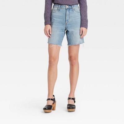 Women's Super-High Rise Bermuda Jean Shorts - Universal Thread™