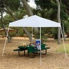 Z-Shade 10' x 10' Angled Leg Instant Shade Canopy Tent Portable Shelter, White - image 2 of 4