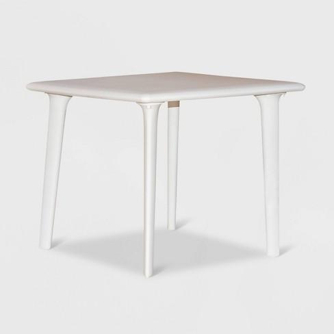 New Dessa Square Patio Table White