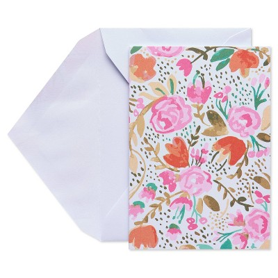 10ct Blank Cards with Envelopes, Floral - Spritz™