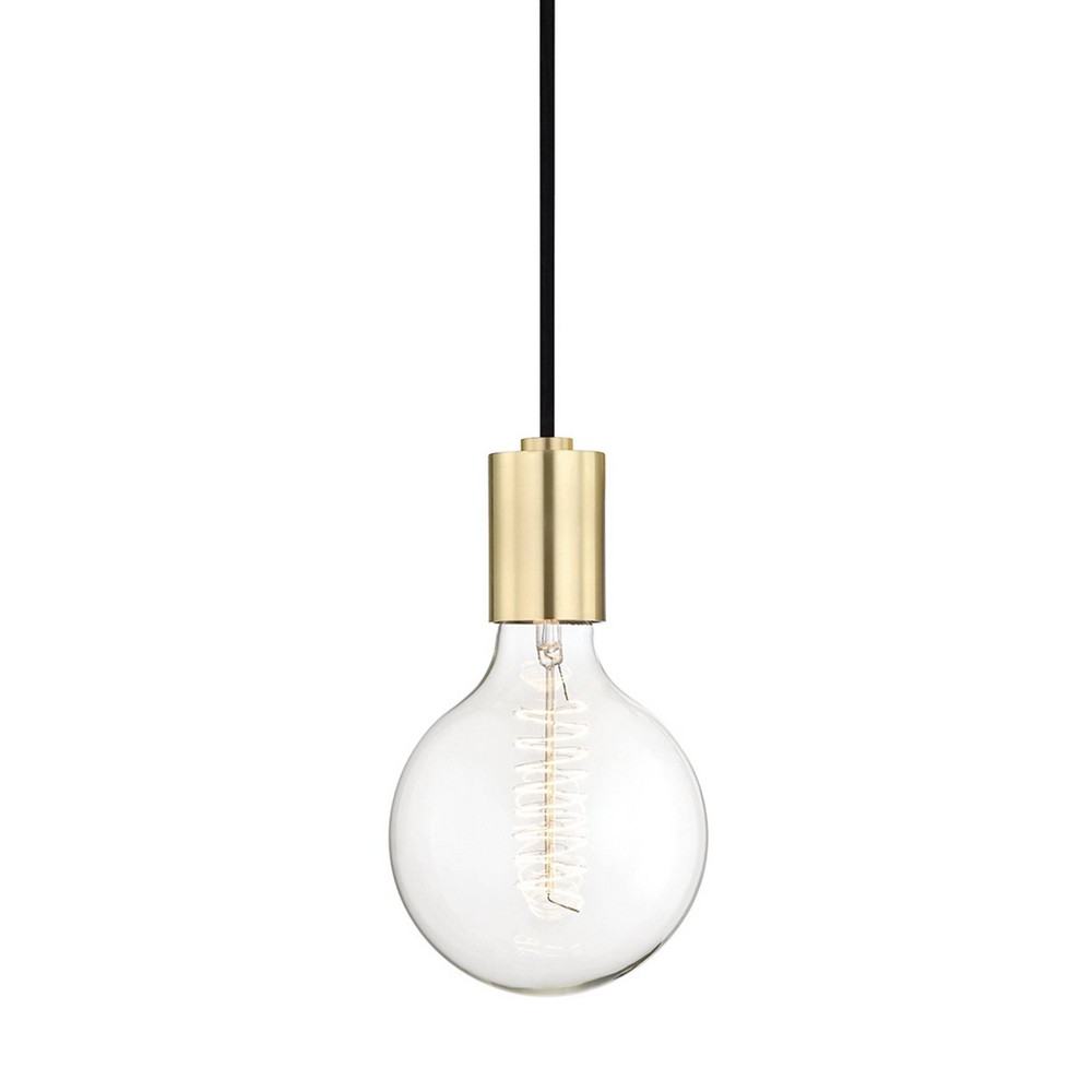 Ava 1-Light Pendant Chandelier Aged Brass - Mitzi by Hudson Valley Promos