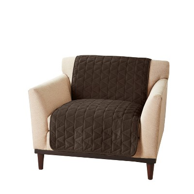 Armless Chair Furniture Protector Chocolate - Sure Fit