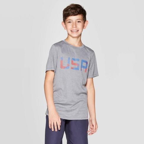 3a9914558 Boys' Graphic Tech T-Shirt USA - C9 Champion® Gray : Target