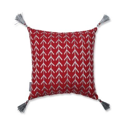 """16""""x16"""" Modern Chevron Square Throw Pillow - Pillow Perfect"""