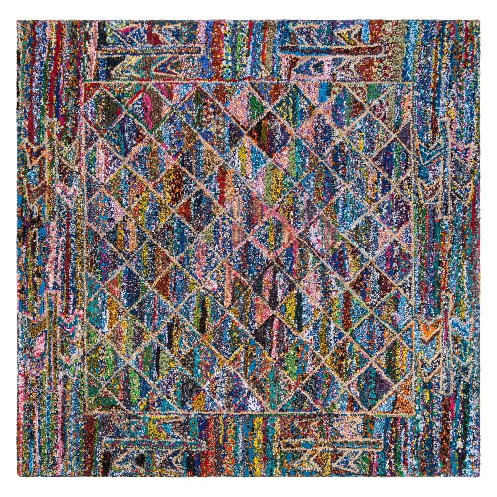 6'X6' Geometric Tufted Square Area Rug - Safavieh, Multicolored