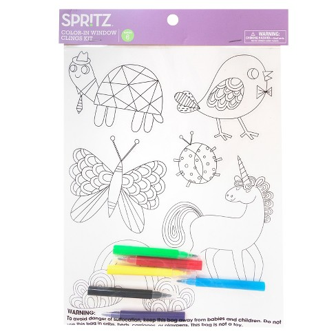 Color-In Window Clings Kit - Spritz™ - image 1 of 3