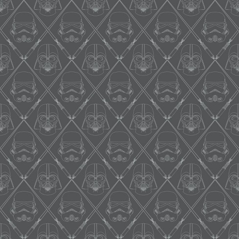 Roommates Star Wars Dark Side Peel And Stick Wallpaper Black Single Sheet