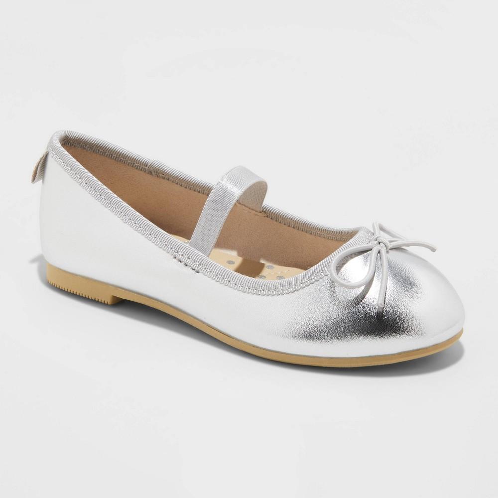 Toddler Girls 39 Becca Slip On Ballet Flats Cat 38 Jack 8482 Silver 9