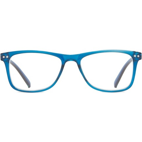 ICU Eyewear Screen Vision Blue Light Filtering Youth Square Blue Crystal Glasses - image 1 of 3