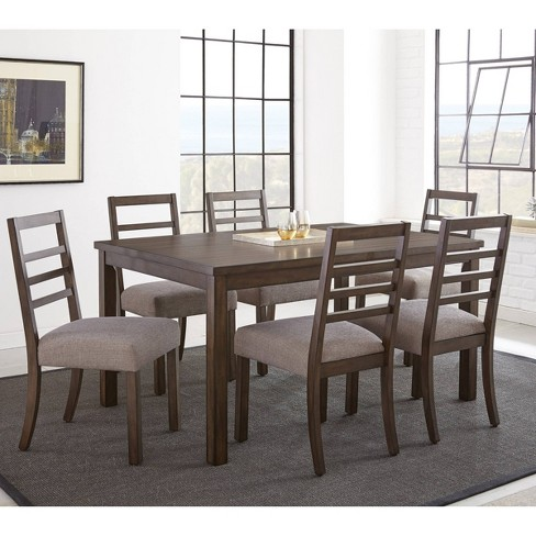 7pc Lyndon Dining Set Grayed Walnut - Steve Silver - image 1 of 6