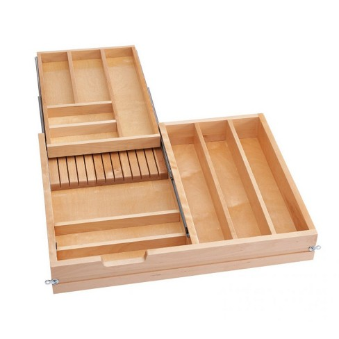 Rev-A-Shelf 4WTCD-30SC-1 30-Inch Tiered Cutlery Drawer Organizer with Soft-Close - image 1 of 4
