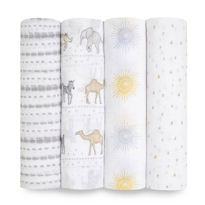Aden + Anais Essentials Swaddle Sunshine 4pk