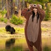 FUNZIEZ! Sherpa Bear Adult Unisex Novelty Union Suit - image 2 of 4