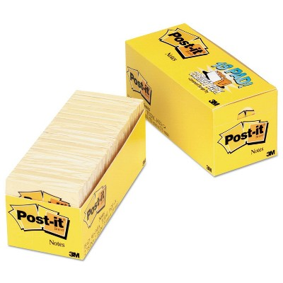 Post-it Notes 18 Pad Cabinet Pack - Yellow (90 Sheets Per Pad)