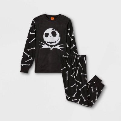 Boys' The Nightmare Before Christmas Jack 2pc Matching Family Pajama Set - Black
