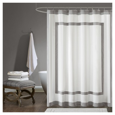 Shower Curtain Shapes Gray