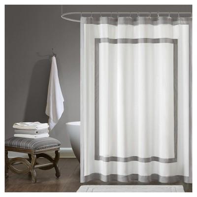 Jackson Cotton Shower Curtain Gray