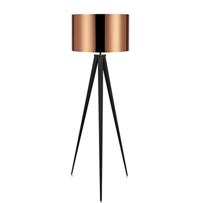Versanora - Romanza Tripod Floor Lamp with Copper Shade
