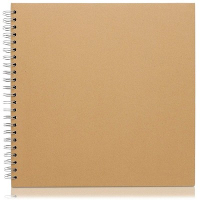 Paper Junkie Hardcover Kraft Blank Page Scrapbook Photo Album, 40 Sheets, 12 X 12 inches