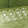 Lakeside Decorative Metal Hummingbird Garden Border Fence for Landscaping - image 2 of 3