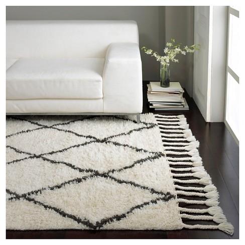 Nuloom Wool Fez Shag Area Rug Natural 10 X14 Target