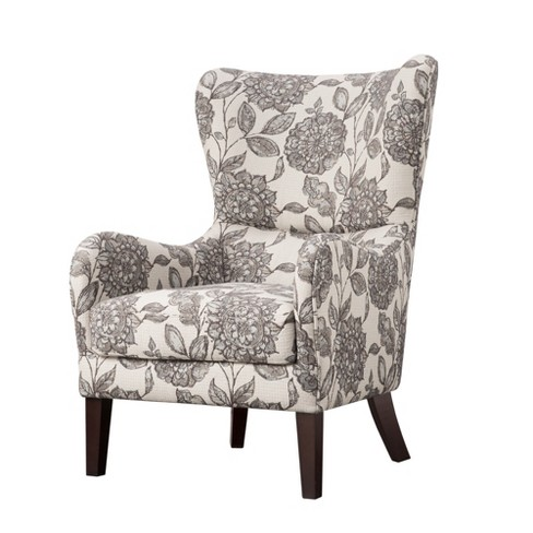 Aria Swoop Upholstered Wing Chair - image 1 of 6