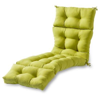 Solid Outdoor Chaise Lounge Cushion - Kensington Garden