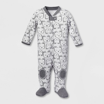 Lamaze Baby Boys' Organic Cotton Bear Sleep N' Play - Gray 3M