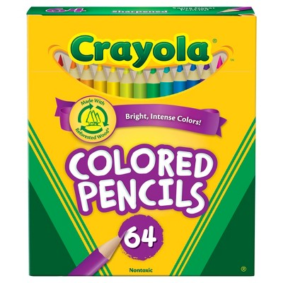 Crayola 64ct Mini Colored Pencils, Assorted Colors