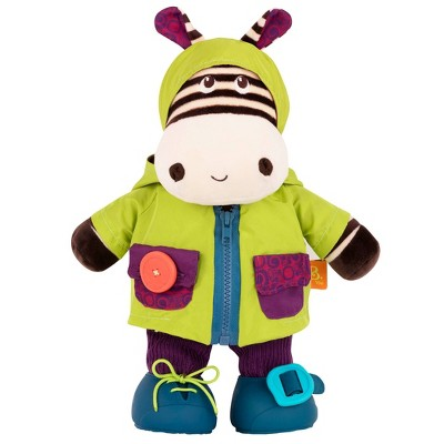 B. toys Interactive Plush Zebra Giggly Zippies - Zebb