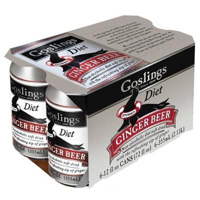 Gosling Diet Ginger Beer - 6pk/12 fl oz Cans