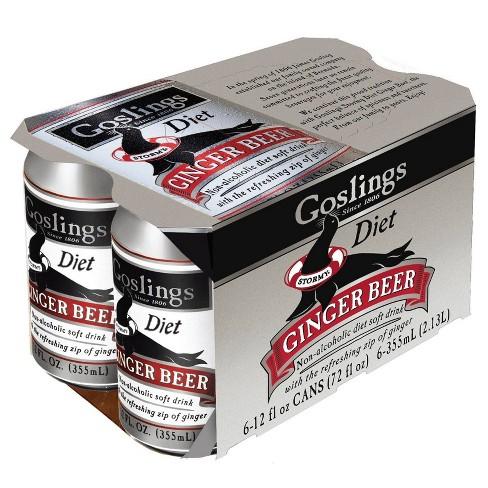 Gosling Diet Ginger Beer - 6pk/12 fl oz Cans - image 1 of 2
