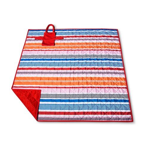 Orange Stripe Picnic Blanket - image 1 of 2