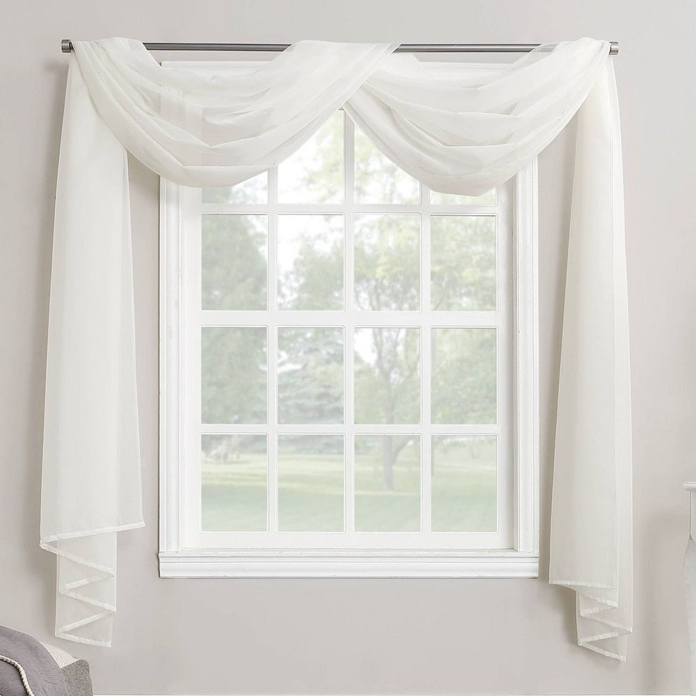 """216""""x59"""" Emily Sheer Voile Window Curtain Scarf - No. 918"""