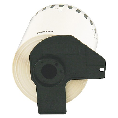 Brother Continuous Length Shipping Label Tape for QL - 1050 - 4in x 100ft Roll - White - image 1 of 1