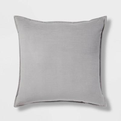 Oversized Cotton Velvet Square Pillow Gray - Threshold™