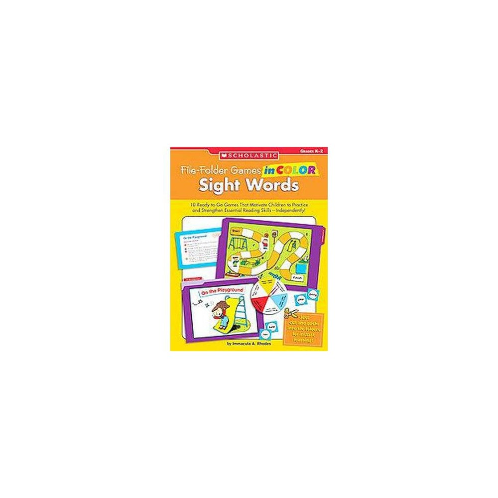 File-folder Games in Color : Sight Words: Grades D-2 (Paperback) (Immacula A. Rhodes)