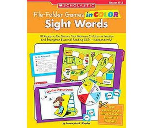 File-folder Games in Color : Sight Words: Grades D-2 (Paperback) (Immacula A. Rhodes) - image 1 of 1