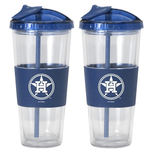 Boelter Brands MLB Houston Astros Set of 2 No Spill Straw Tumbler - 22oz - image 1 of 1