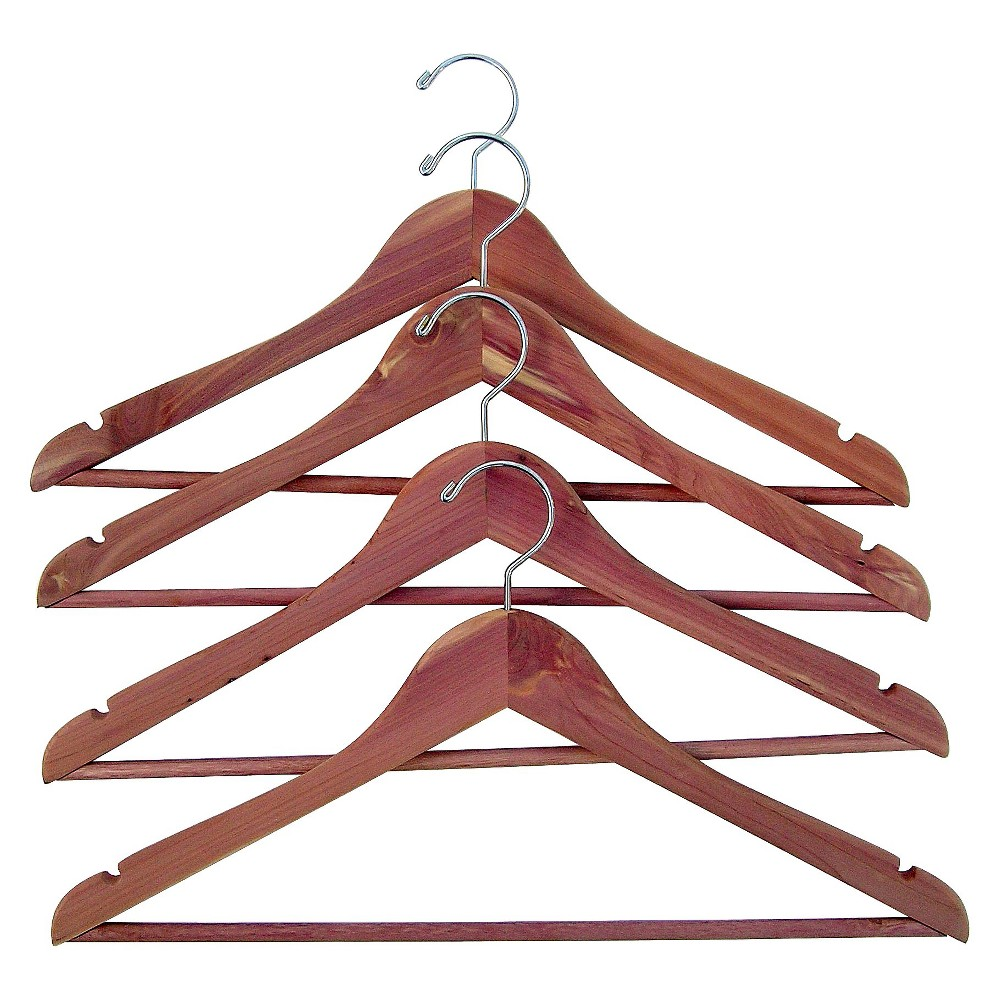 Image of Cedar Garment Hanger 4pk, Natural Cedar