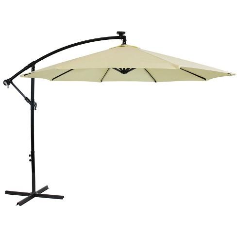 Solar Led Lights Air Vent Crank, Outdoor Patio Umbrella With Solar Led Lights