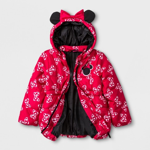 5a2d6f03a7e5 Toddler Girls  Disney Minnie Mouse   Friends Coat - Red   Target