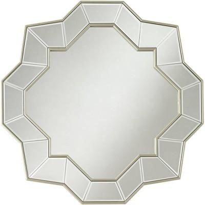 """Possini Euro Design Possini Euro Aurora 31 1/4"""" Champagne Quatrefoil Wall Mirror"""