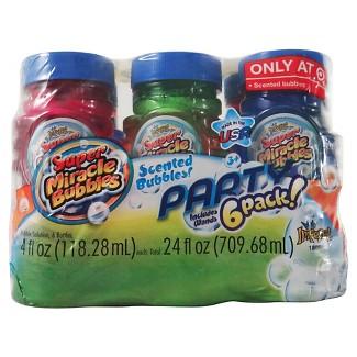 Super Miracle Bubbles Scented Party 6 pk Bubbles