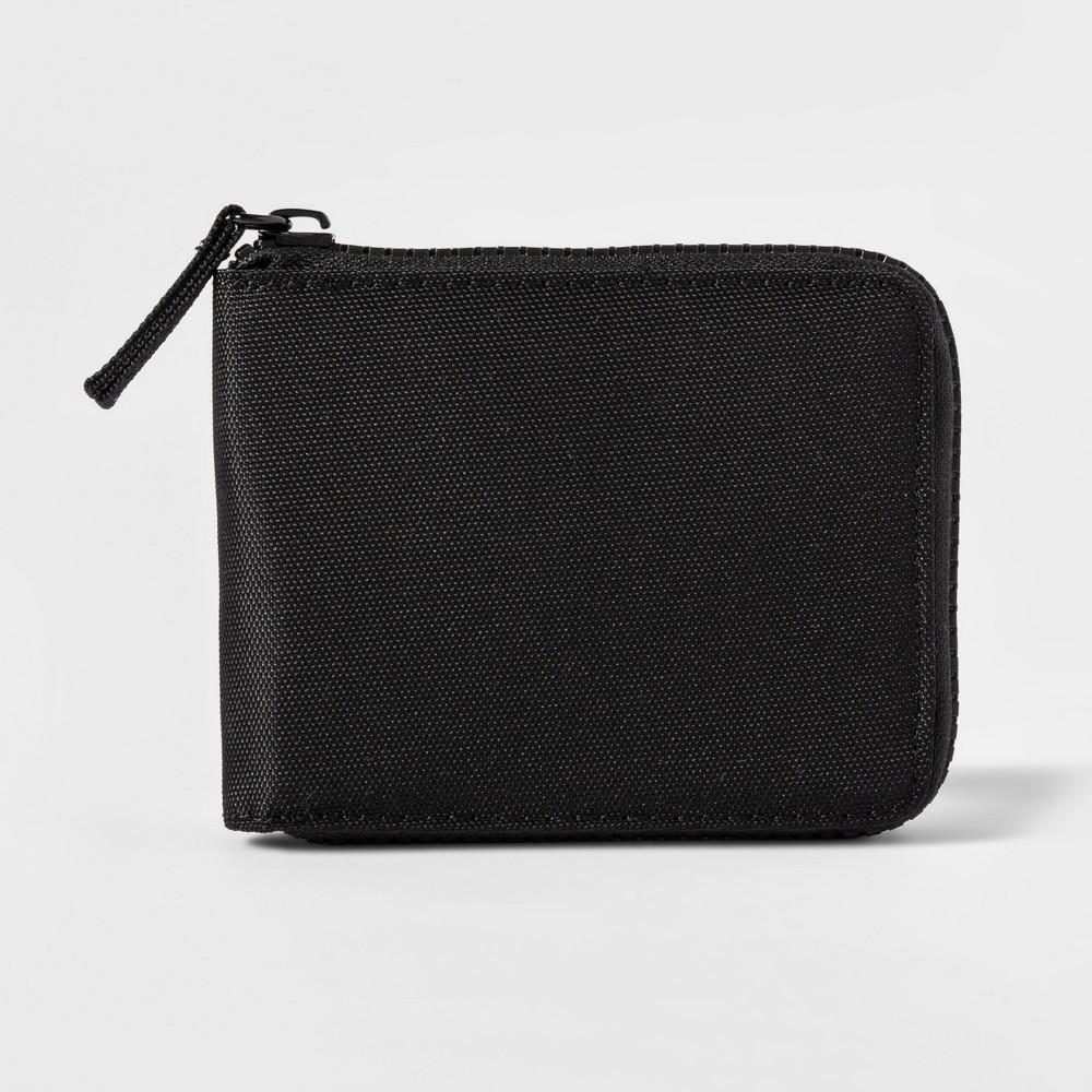Men's Zip Around Wallet - Goodfellow & Co Black
