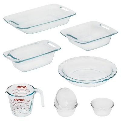 Pyrex 8pc Prep And Bake Set