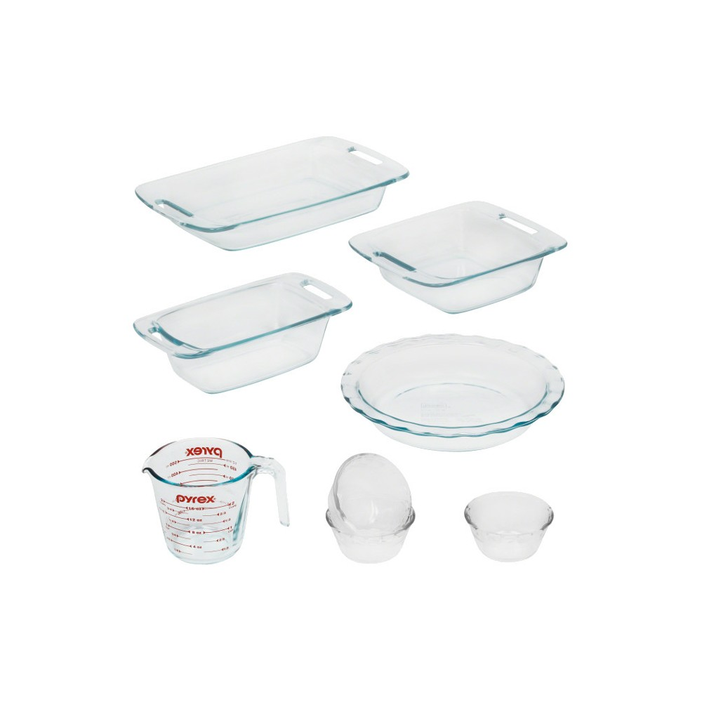 Pyrex 8pc Prep And Bake Set, Multi-Colored
