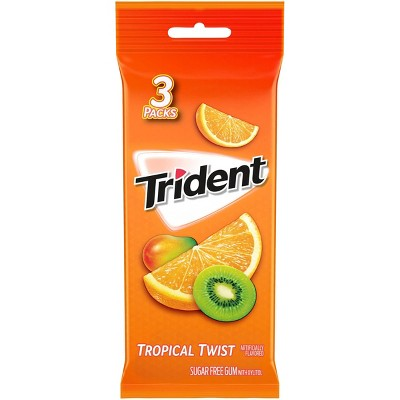 Trident Tropical Twist Sugar Free Gum - 3ct/14pc